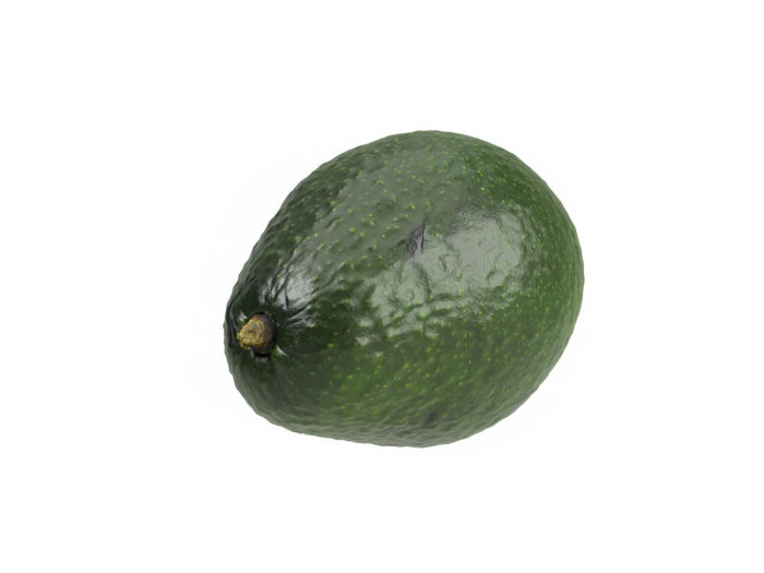 top view rendering of an avocado 3d model