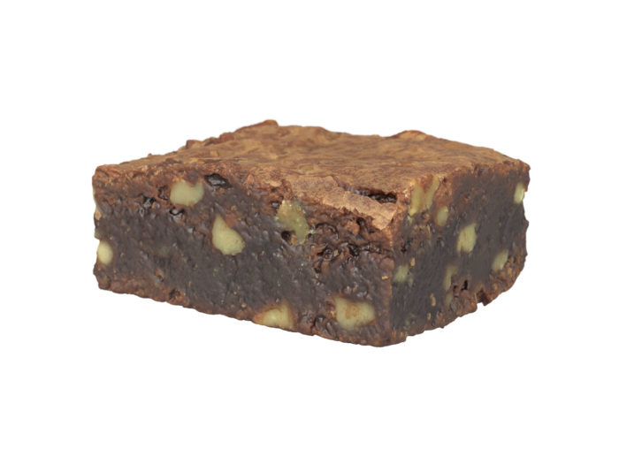 perspective view rendering of a brownie 3d model