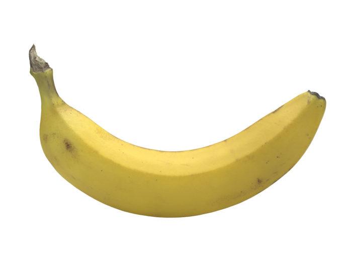side view rendering of a banana 3d model