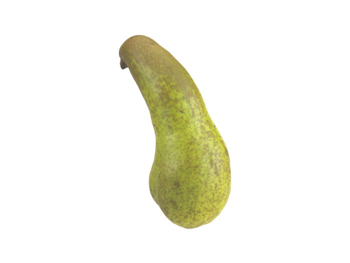 back view rendering of a unique pear 3d model