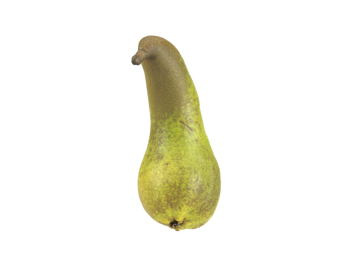 front view rendering of a unique pear 3d model