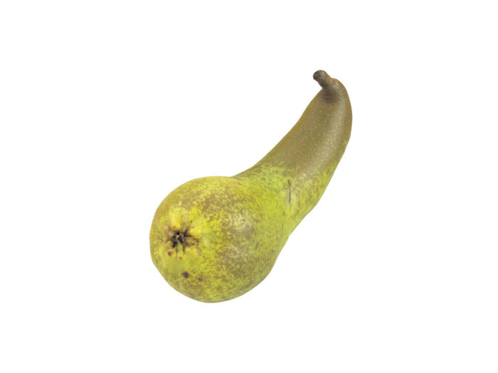 perspective view rendering of a unique pear 3d model