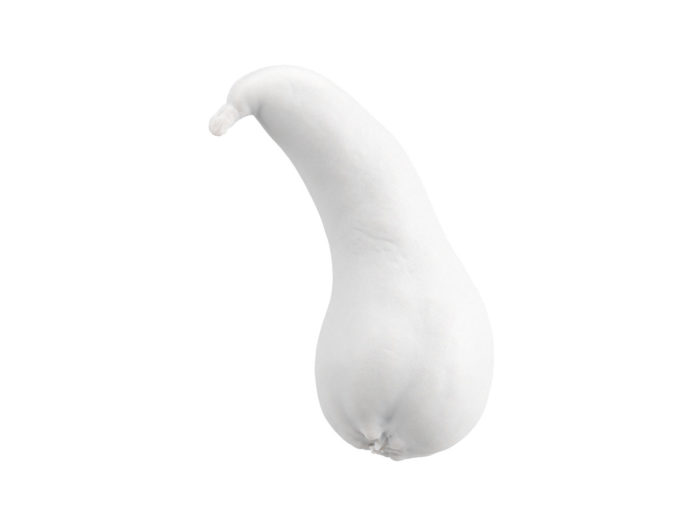 clay rendering of a unique pear 3d model